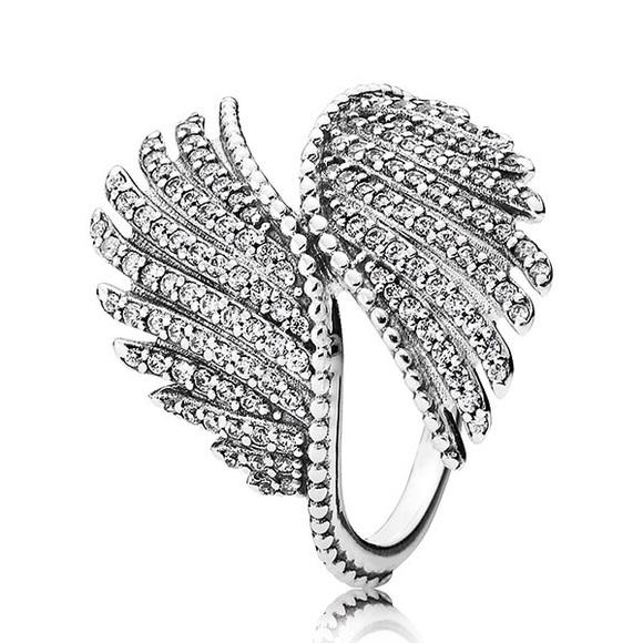 e4bec23e3 Pandora Jewelry | Majestic Feathers Angel Wings Ring | Poshmark